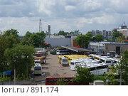 Вид на автовокзал, г.Тверь (2009 год). Редакционное фото, фотограф Роман Смирнов / Фотобанк Лори