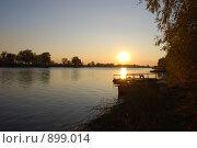 Закат в Астрахани. Стоковое фото, фотограф Андрей Лисняк / Фотобанк Лори