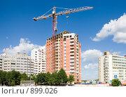 Купить «Завершение строительства многоэтажного жилого дома», эксклюзивное фото № 899026, снято 26 мая 2009 г. (c) Галина Лукьяненко / Фотобанк Лори