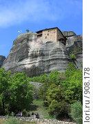 Купить «Греция, Метеоры. Монастырь Святого Никалая Анапафсаса», эксклюзивное фото № 908178, снято 24 апреля 2009 г. (c) Дмитрий Неумоин / Фотобанк Лори