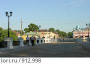 Купить «Мост от набережной в Угличе», фото № 912998, снято 12 июля 2007 г. (c) Марина Бандуркина / Фотобанк Лори