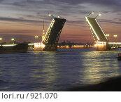 Купить «Ночной дворцовый мост», фото № 921070, снято 12 июня 2009 г. (c) Виктор Юрасов / Фотобанк Лори