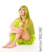 Купить «Девушка русалка с зелеными волосами», фото № 922182, снято 7 июня 2009 г. (c) Сергей Новиков / Фотобанк Лори