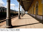 Купить «Малая Вишера, вокзал», фото № 923498, снято 24 апреля 2009 г. (c) Сергей Бойков / Фотобанк Лори