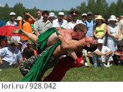 Купить «Борьба курэш, праздник сабантуй», фото № 928042, снято 6 июня 2009 г. (c) Талдыкин Юрий / Фотобанк Лори