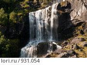Купить «Водопад Melkevoll», фото № 931054, снято 18 августа 2008 г. (c) Роман Мухин / Фотобанк Лори