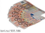Купить «Купюры в пятьдесят евро», фото № 931186, снято 17 июня 2009 г. (c) Алексей Баранов / Фотобанк Лори