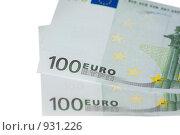 Купить «Банкноты в сто евро», фото № 931226, снято 17 июня 2009 г. (c) Алексей Баранов / Фотобанк Лори