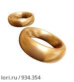 Два обручальных кольца. Стоковая иллюстрация, иллюстратор Фальковский Евгений / Фотобанк Лори