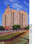 Купить «Высотный жилой дом с башенкой в Кузьминках, Москва», фото № 940942, снято 23 июня 2009 г. (c) Владимир Сергеев / Фотобанк Лори