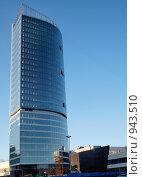 Строящийся бизнес-центр (2009 год). Стоковое фото, фотограф Михаил Сметанин / Фотобанк Лори