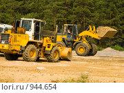 Купить «Строительство автомобильного моста через Оку возле города Мурома», фото № 944654, снято 11 июня 2009 г. (c) Олег Тыщенко / Фотобанк Лори