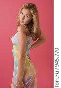 Купить «Портрет молодой девушки», фото № 945770, снято 26 июня 2009 г. (c) Сергей Плюснин / Фотобанк Лори