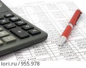 Купить «Финансовый отчёт», фото № 955978, снято 31 января 2008 г. (c) Сергей Плахотин / Фотобанк Лори
