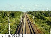 Купить «Железная дорога. Вид сверху», фото № 956542, снято 29 июня 2009 г. (c) Михаил Яковлев (ktynzq) / Фотобанк Лори