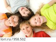 Купить «Четверо детей», фото № 958502, снято 27 мая 2009 г. (c) Григорьева Любовь / Фотобанк Лори