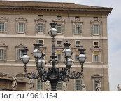 Уличный фонарь в Ватикане. Стоковое фото, фотограф Евгения Кускова / Фотобанк Лори
