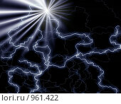 Купить «Абстрактный фон с молниями», иллюстрация № 961422 (c) ElenArt / Фотобанк Лори