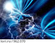 Купить «Абстрактный фон с молниями», иллюстрация № 962070 (c) ElenArt / Фотобанк Лори