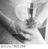 Купить «Фужер с шампанским», фото № 963294, снято 25 апреля 2009 г. (c) Сергей Бутко / Фотобанк Лори