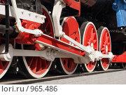 Купить «Колеса локомотива», фото № 965486, снято 4 июля 2009 г. (c) Валерий Крывша / Фотобанк Лори