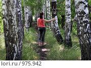 В берёзовой аллее. Стоковое фото, фотограф Лариса Патракеева / Фотобанк Лори