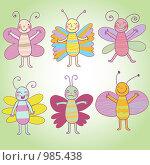 Купить «Бабочки», иллюстрация № 985438 (c) Юлия Григорьева / Фотобанк Лори