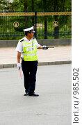 Купить «Полицейский регулировщик на улице Улан - Батора. Монголия.», фото № 985502, снято 15 июня 2009 г. (c) Александр Подшивалов / Фотобанк Лори