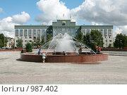 Здание администрации города Сургута (2009 год). Редакционное фото, фотограф Сергей Бахадиров / Фотобанк Лори