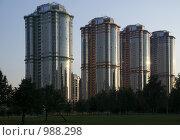 Здания (башни) на проспекте Вернадского. Москва (2009 год). Стоковое фото, фотограф Тагильцева Наталия / Фотобанк Лори