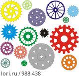 Графически нарисованные шестеренки. Стоковая иллюстрация, иллюстратор pzAxe / Фотобанк Лори