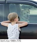 Купить «Ребенок и собака», фото № 989770, снято 23 июня 2009 г. (c) Ирина / Фотобанк Лори