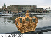 Купить «Городской пейзаж. Вид на королевский дворец.  (Стокгольм, Швеция)», фото № 994334, снято 16 марта 2009 г. (c) Александр Секретарев / Фотобанк Лори