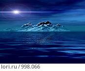 Купить «Фантастический 3D-пейзаж. Ночь», иллюстрация № 998066 (c) ElenArt / Фотобанк Лори
