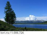 На берегу горного озера Узунколь, Алтай, эксклюзивное фото № 1006726, снято 16 июля 2009 г. (c) Яна Королёва / Фотобанк Лори