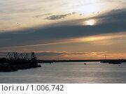 Закат на Оби. Стоковое фото, фотограф Нуйкин Всеволод / Фотобанк Лори