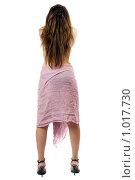 Купить «Девушка на белом фоне спиной», фото № 1017730, снято 2 июля 2008 г. (c) Сергей Сухоруков / Фотобанк Лори