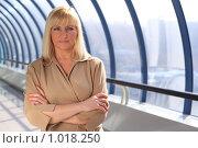 Купить «Серьезная деловая женщина», фото № 1018250, снято 8 апреля 2009 г. (c) Losevsky Pavel / Фотобанк Лори