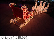Купить «Олени везут сани с подаркам», фото № 1018654, снято 12 декабря 2008 г. (c) Losevsky Pavel / Фотобанк Лори