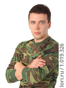 Купить «Мужчина в камуфляже», фото № 1019326, снято 9 марта 2009 г. (c) Losevsky Pavel / Фотобанк Лори