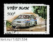 Купить «Марка с машиной», иллюстрация № 1021534 (c) Василий Нижников / Фотобанк Лори