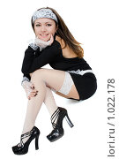 Купить «Улыбающаяся девушка», фото № 1022178, снято 4 января 2009 г. (c) Сергей Сухоруков / Фотобанк Лори