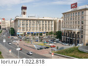 Киев, площадь Независимости (2009 год). Редакционное фото, фотограф Алексей Котлов / Фотобанк Лори