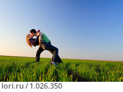 Купить «Поцелуй в поле», фото № 1026350, снято 12 апреля 2008 г. (c) Арестов Андрей Павлович / Фотобанк Лори