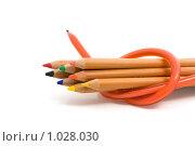 Набор цветных карандашей и гибкий карандаш. Стоковое фото, фотограф Вадим Субботин / Фотобанк Лори