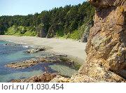 Купить «Бухта  мыса Великан,остров Сахалин, побережье Охотского моря», фото № 1030454, снято 8 августа 2009 г. (c) RedTC / Фотобанк Лори