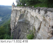 Крепостная стена Кёнихштайн, Саксония, Германия. Стоковое фото, фотограф Евгения Кускова / Фотобанк Лори