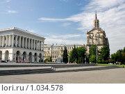Купить «Киев, площадь Независимости», эксклюзивное фото № 1034578, снято 3 июля 2009 г. (c) Алексей Котлов / Фотобанк Лори