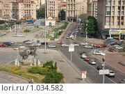 Купить «Киев, площадь Независимости», эксклюзивное фото № 1034582, снято 3 июля 2009 г. (c) Алексей Котлов / Фотобанк Лори