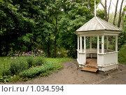 Купить «Большое Болдино, беседка в парке», эксклюзивное фото № 1034594, снято 31 июля 2009 г. (c) Алексей Котлов / Фотобанк Лори